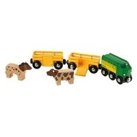 brio Поезд с животными-ферма