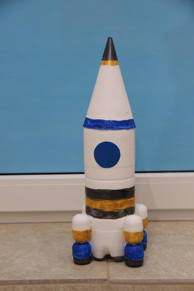 Ракета из пенопласта своими руками 56