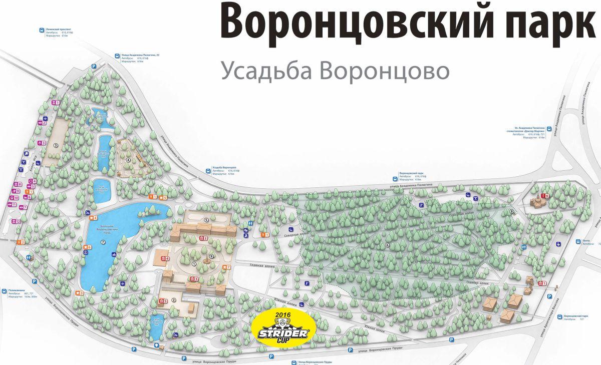 карта Воронцовского парка с отметкой 2